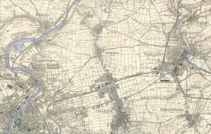Das Schmidener Feld im Jahr 1937